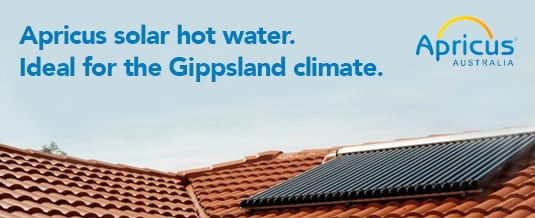 Gippsland solar- Apricus solar hot water system