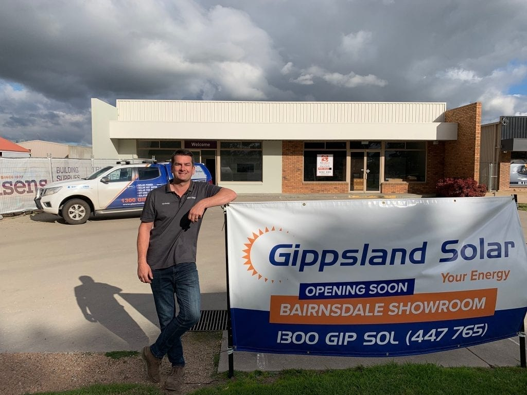 Landon Moss at Gippsland Solar Bairnsdale showroom