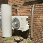 Reclaim hot water heat pump